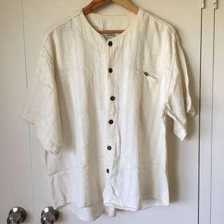 White oversized  Bali top