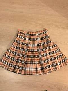 英倫格仔短裙