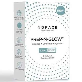 Nuface Prep-N-Glow Cleansing Cloths 5 pack