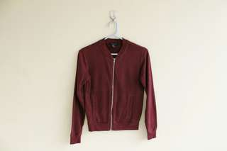 ATMOSPHERE BURGUNDY BOMBER JACKET