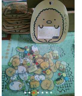 🚚 4包)日本(袋裝)角落生物可愛貼紙
