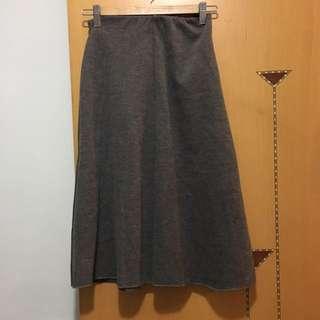 橡筋頭灰色裙