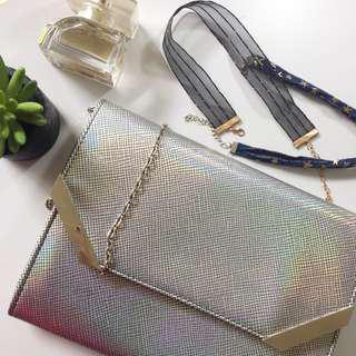 colette 🦄 holographic sling bag