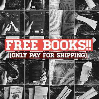 FREE BOOKS!! (only pay for shipping!)