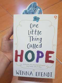 Buku Novel One Little Thing Called HOPE