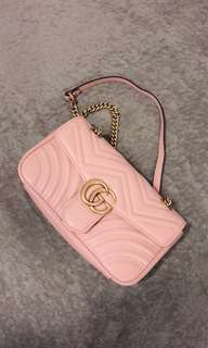 Gucci gg marmont small shoulder bag pink