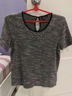 Warehouse embellished blouse