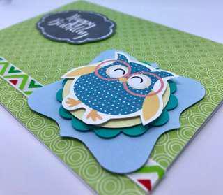 🚚 Birthday Card - Owl