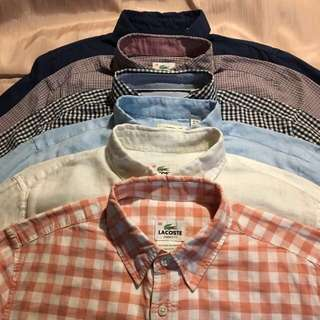 Authentic Lacoste button front casual shirts