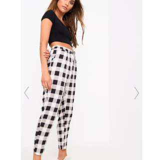Black Check Casual Trousers BNWT