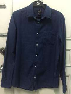 H&M Polo Shirt Blue Slimfit