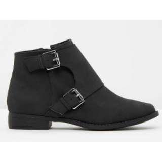 Black Nubuck Celeste Spurr Ankle Boots