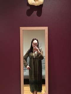Brand new topshop dress in khaki