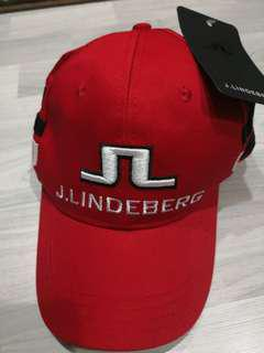 Brand New Red J. Lindeberg Cap