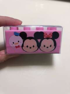 全新‼️Tsum Tsum 粉紅印仔送粉紅擦膠💓‼️