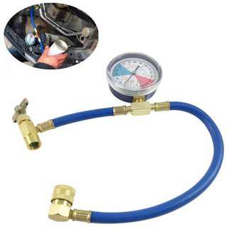 DIY tool for car refrigerant hose & gauge