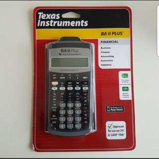 New Sealed Texas Instruments BA II Plus Financial Calculator