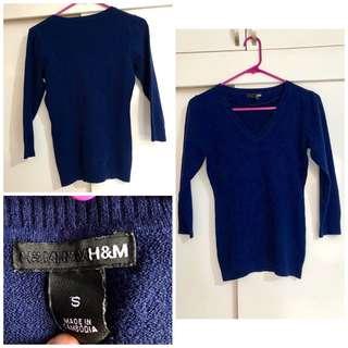 Original H&M dark blue sweater blouse small