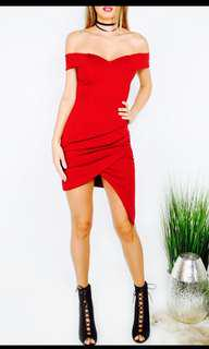 Red/ maroon bodycon dress