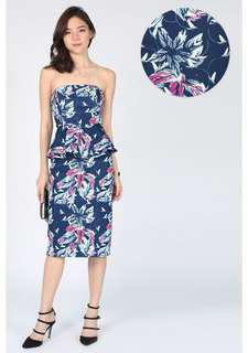 Love Bonito Magna Printed Peplum Dress
