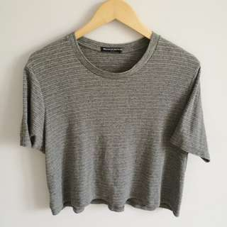 Brandy Melville Speckled Grey Knit Top