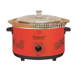🚚 Takahi 1606 Slow Cooker 5.2L Red (FREE DELIVERY, Brand New)