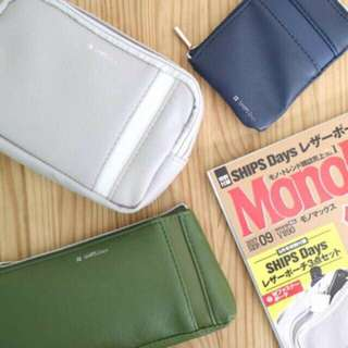 🇯🇵 SHIPS Days Three-Piece Wallet Pouch Set from Japan