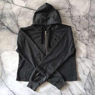 Dark grey crop hoodie size S