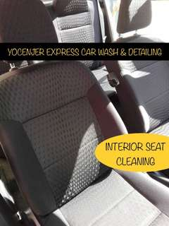 CUCI KUSYEN KERETA / INTERIOR SEAT CLEANING (Fabric or Leather)