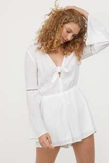 Authentic H&M White front-tie Romper