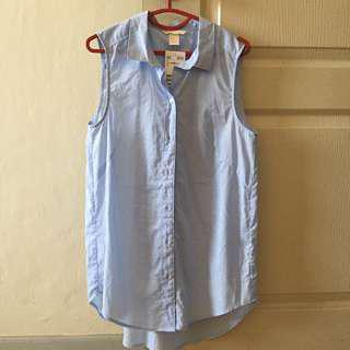 H&M Sleeveless Button Shirt #Android100