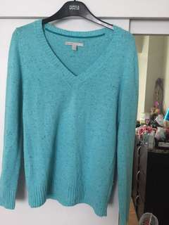 Teal Long Sleeves Knitted