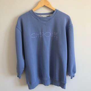 Cherokee Periwinkle Blue Pullover Sweatshirt