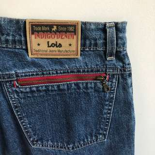 Lois High-Rise Indigo Denim Jeans