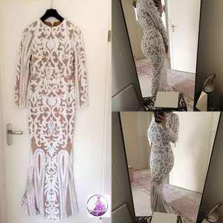 ( RENT RM30) Zalia white sequin