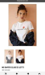 The Pixie Rack x Titan Tyra No Baper Crop T-shirt