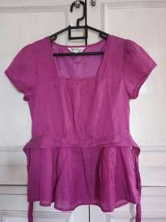 Bega shocking pink blouse