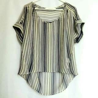 Large Stripes Blouse