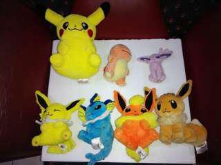 Boneka Pokemon, Pokemon Plushie Pikachu Eevee Charmender Vaporeon Flareon Jolteon Espeon