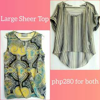 🌺 Bundle Sheer Tops 🌺 php280 for both 🌺