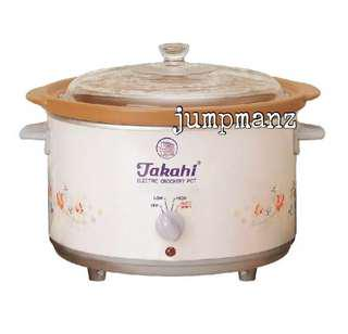 Takahi 1606 Slow Cooker 5.2L Pink (FREE DELIVERY, Brand New)