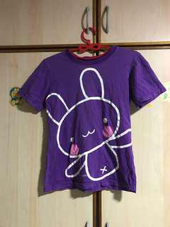 🚚 Free mailing! Purple rabbit T-shirt