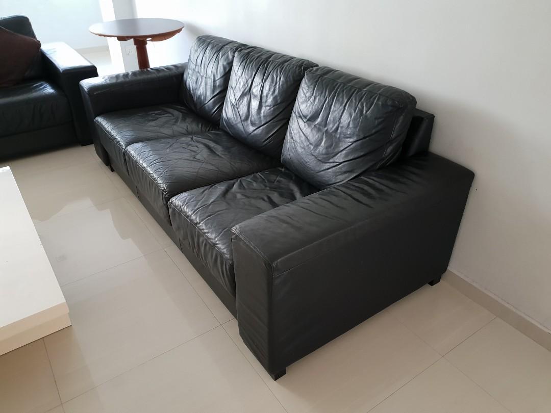 e362493601c 3+2 Seater Faux Leather Sofa