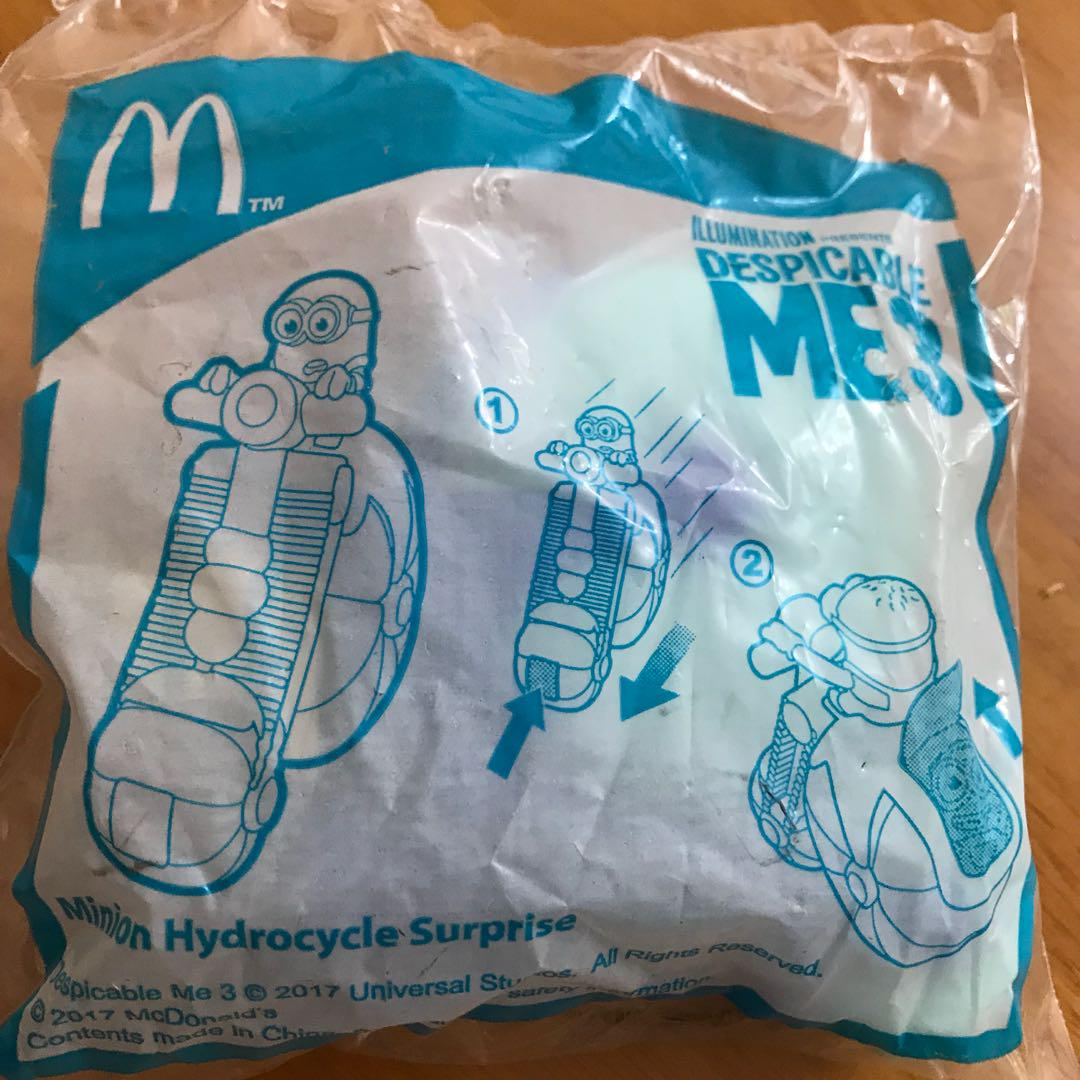 麥當勞開心樂園餐玩具 - Despicable ME 3 一套