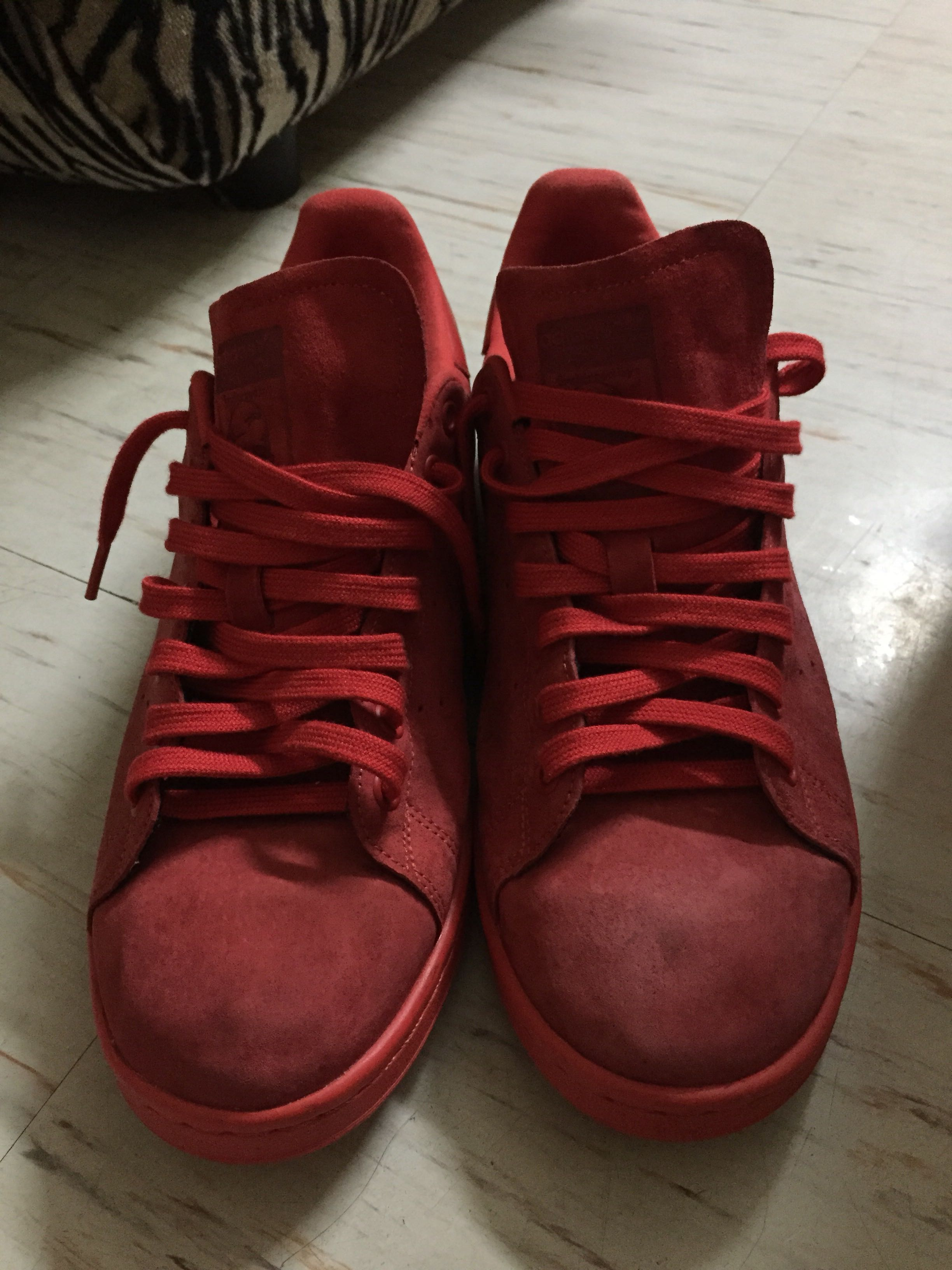 31963a41d ... clearance adidas stan smith powder red us size 10. 5 free shipping mens  fashion footwear