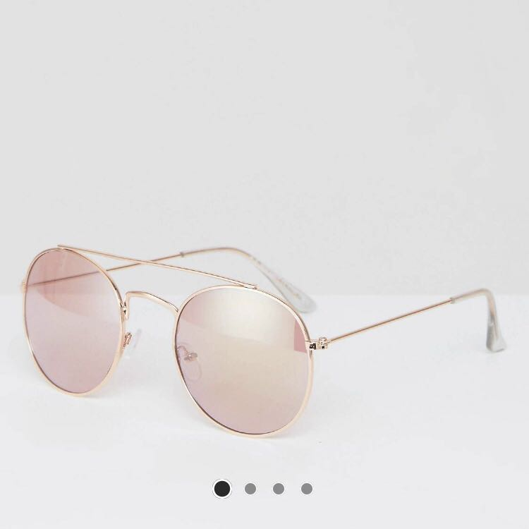 e61a9246dabb ASOS Rose Gold reflective Sunglasses, Women's Fashion, Accessories ...
