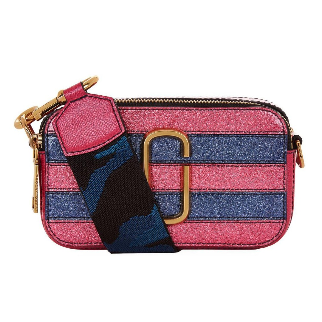 be936cdd7217 Authentic Marc Jacobs snapshot glitter bag - pink multi