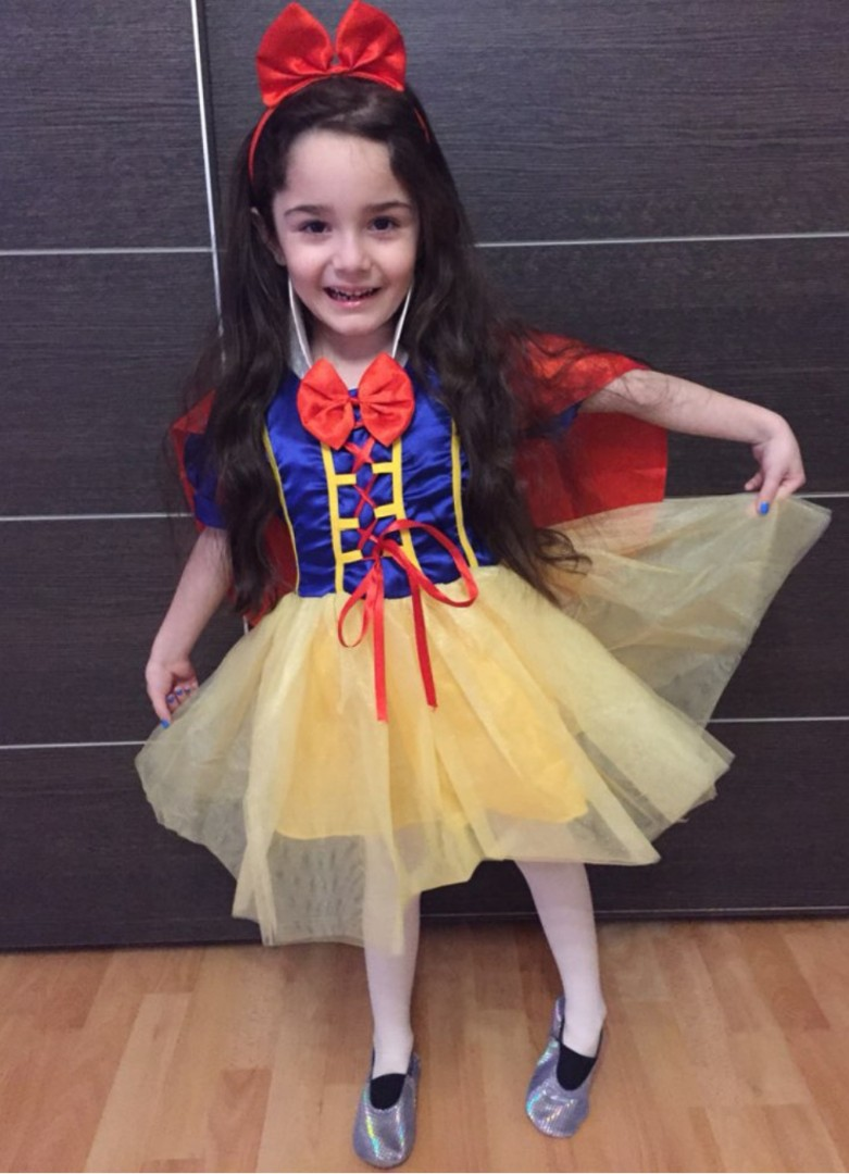 5033758780a6 ⚘ INSTOCK!! Girl Snow White Cosplay Dress Kids Costume 3-8Y