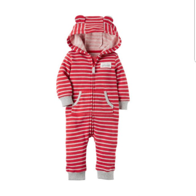 f5a52b751 BNWT Boy Carters Hooded Brushed Fleece Jumpsuit, Babies & Kids ...