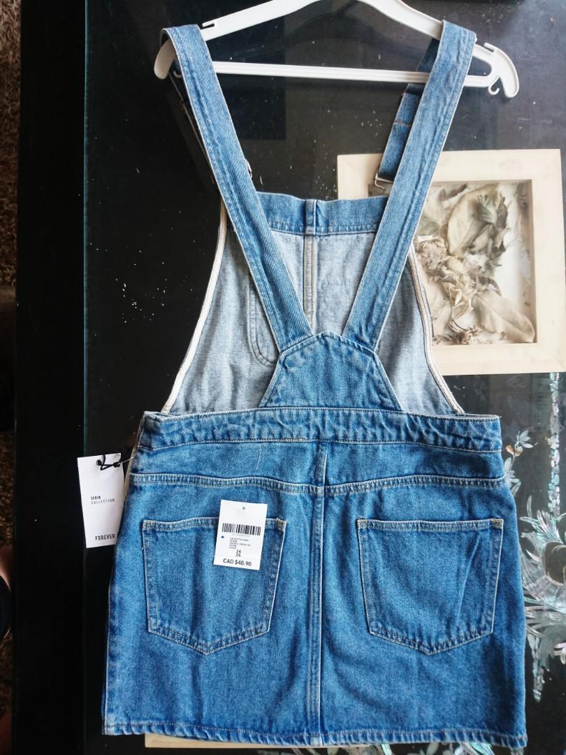 Brand new denim overalls, size 26